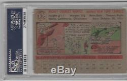 Mickey Mantle Psa / Dna 1956 Topps # 135 Carte Authentifiée, Autographe Certifiée