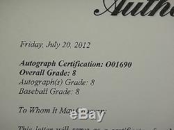 Mickey Mantle Psa / Dna Classé 8 Signé Oal Baseball Autographié # O01690