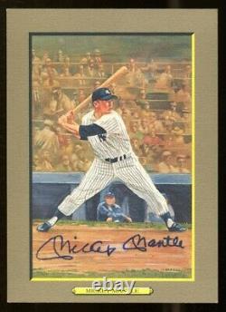 Mickey Mantle Signé Perez-steele Great Moments Card Autographié Yankees Psa / Adn