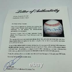 Mickey Mantle Ted Williams Carl Yastrzemski Triple Couronne Signé Baseball Adn Psa