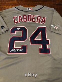 Miguel Cabrera Signé Detroit Tigers Jersey Psa Adn Coa Autographié