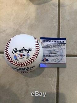 Mike Trout Signé / Autographié Lmb Baseball Romlb Los Angeles Angels Psa / Dna Coa