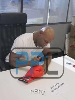 Mike Tyson Authentique Signé Gant De Boxe Autographié In Black Psa / Adn Pti 2