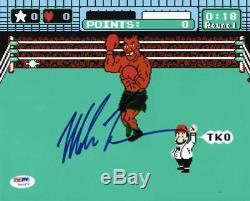 Mike Tyson Boxe Signé Authentique 8x10 Punch Out Photo Dédicacée Psa / Adn Pti