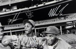 Mike Tyson Doc Gooden Darryl Strawberry Autographié 16x20 B & W Photo-psa / Adn Auth
