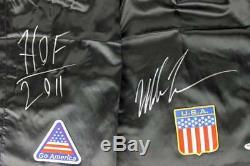 Mike Tyson'hof 2011' Authentique Signé Tyson Modèle De Boxe Trunks Psa / Adn Pti
