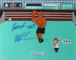 Mike Tyson'punch Out ' Signé Authentique 16x20 Photo Dédicacée Psa / Adn Pti