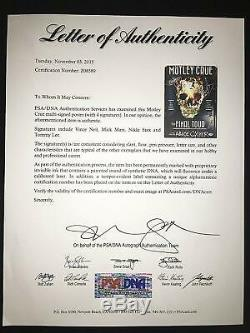Motley Crue Livre De Dédicace Autographié Et Encadré Signé The Final Tour Psa / Dna The Dirt