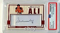 Muhammad Ali Champion De Boxe Signé Card Automatique Personnalisé 1/1 Psa/adn Dlabbed