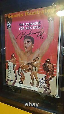 Muhammad Ali / Joe Frazier Autographié Original Psa/dna H51830