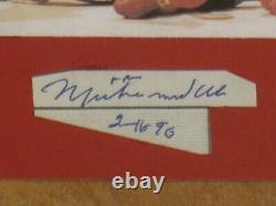 Muhammad Ali Signé Autographied Cut & 3x3 Photo Encapsulé Psa/dna