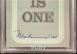 Muhammad Ali Signé Brochure Boxe Goat Cassius Clay Autograph Slab Psa/adn