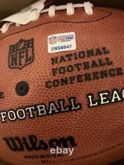 NFL Officielle The Duke 100 Wilson Leather Football Psa/dna Signed Hof 2000