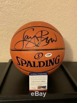 Nba. Larry Bird Autographié Basketball. Psa / Adn Certifié. Boston Celtics