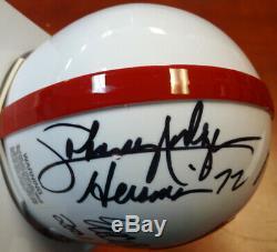 Nebraska Heisman Gagnants Autographié Mini Casque 3 Sigs Crouch Psa / Adn 103895