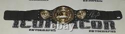 Nick Diaz A Signé Wec Toy Championship Belt Psa/dna Coa Ufc Autograph Strikeforce