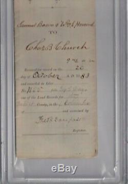 Nm 8! Frederick Douglass Abolitionniste Psa Adn Slabbed Autographié 1883 Signé