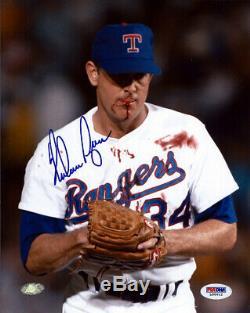 Nolan Ryan Autographié Signé 8x10 Rangers Photo Texas Sanglante Psa / Adn 75027