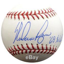 Nolan Ryan Autographié Signé Lmb Baseball 69 Ws Champs Mets Psa / Adn 17477