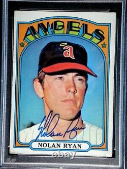 Nolan Ryan Psa/dna Certified Authentic 1972 Topps Signed Card #595 Autographed
