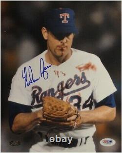 Nolan Ryan Signé Auto 16x20 Photo Texas Rangers Bloody Lip Bo Jackson Psa/dna