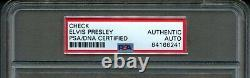Novembre 1975 Elvis Presley The King Hand Signed Bank Personal Check Auto Psa/dna