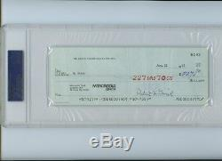 Ox Baker A Dédicacé Chèque Signé De Lutte 1983 Adn Psa Nwa Awa Wwf (de Wwe)
