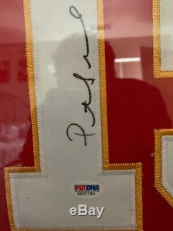 Patrick Mahomes Encadrée Nike Elite Autographié Signé Jersey Psa / Adn