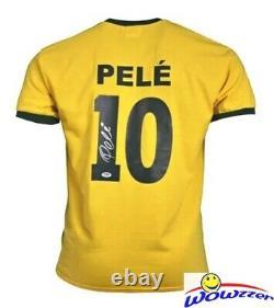 Pele #10 Authentique Signé Brésil Soccer Jersey Dna Psa Authentifié Coa Auto