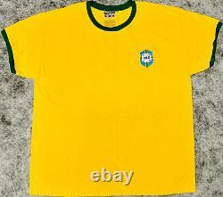 Pele Signé Brésil Soccer Jersey Nom Complet Autographié Avec Edson Psa/adn Coa