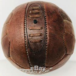Pelé Signé En Cuir Vintage Ballon De Football Brasil Auto Brésil Psa Adn Pti