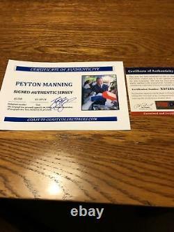 Peyton Manning Autographié Reebok Game Jersey Psa/dna Coa
