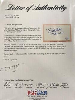Pistol Pete Maravich Autographié Carte Index (psa / Adn Authentique)