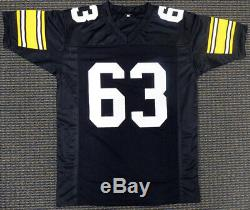 Pittsburgh Steelers Ernie Holmes Autographié Signé Noir Jersey Psa / Adn 143299