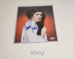 Princesse Leia Carrie Fisher A Signé La Photo Dna Psa (star Wars)