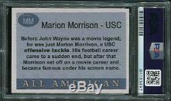 Psa / Adn 1955 All-américain Topps John Wayne Usc Autographié Cut Carte Signature