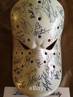 Psa / Adn Certifié 1993-1995 Ducks D'anaheim Équipe Complète Autographié Masque De Hockey