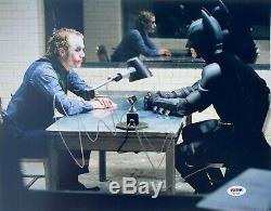 Psa / Adn Christian Bale Signé Autographié Batman 11x14 Photo Heath Ledger Joker
