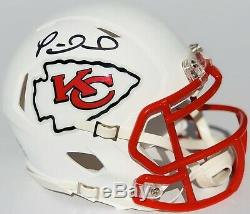 Psa / Adn Kansas City Chiefs # 15 Patrick Mahomes Signé Speed Mini Casque Auto