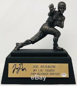 Psa / Adn Lsu Tigers # 9 Joe Terrier Signé Autographié Trophy Statue 2019 Heisman