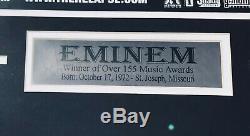 Psa / Adn Réel Slim Shady Eminem Autographié Signé Encadrée Rechute Poster Rap Icon