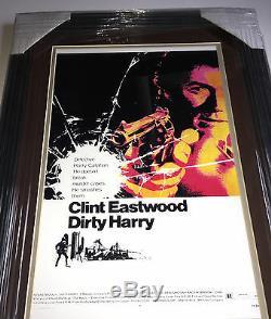 Psa / Adn Sale Harry Clint Eastwood Affiche Dédicacée Autographiée De Films Framed