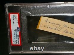Psa / Dna Authentique Auto Frank Home Run Baker Signé Cut Autographs Baseball