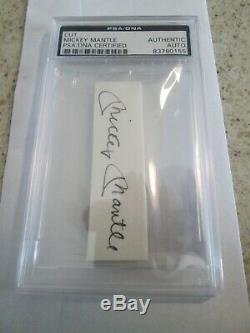 Psa / Dna Manteau Cut Signature Mickey Autograph Auto Yankees