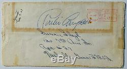Psa / Dna Rock & Roll King Elvis Presley Signed Autographié New Years Carte Auto