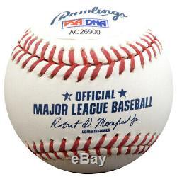 Randy Johnson, Mariniers De Baseball Hof Autographiés Et Signés, Autographiés 15 Psa / Dna 86900