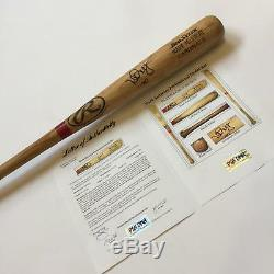 Rare Mark Mcgwire 1999 Signé Jeu Utilisé Baseball Bat Psa Adn Coa Utilisation Intensive