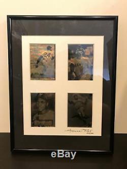 Rare Willie Mays 1952 Signé Autographié Impression Topps Plaque Adn Affichage Psa
