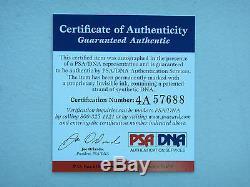 Ray Lewis # 52 Psa / Adn Signé Officiel Wilson NFL Football Certifié Autograph