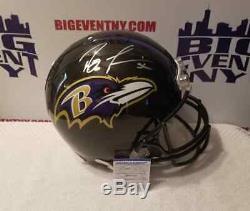 Ray Lewis Baltimore Ravens Signé Full Size Casque Psa / Adn